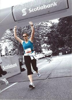 Scotia HM finish line